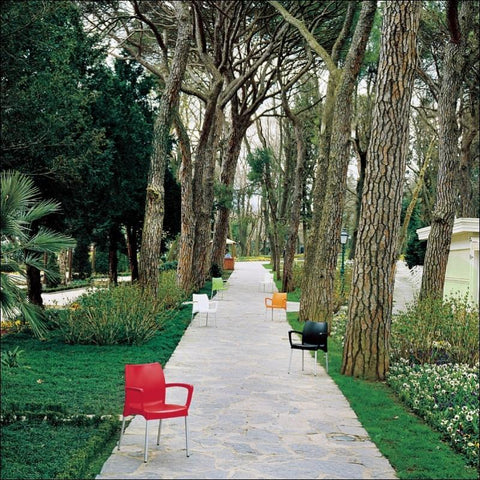 Compamia Dolce Resin Outdoor Armchair Red ISP047-RED - RestaurantFurniturePlus + Chairs, Tables and Outdoor - 3