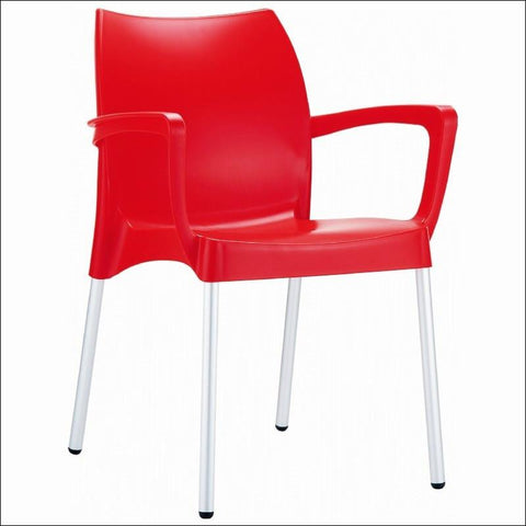 Compamia Dolce Resin Outdoor Armchair Red ISP047-RED - RestaurantFurniturePlus + Chairs, Tables and Outdoor - 1