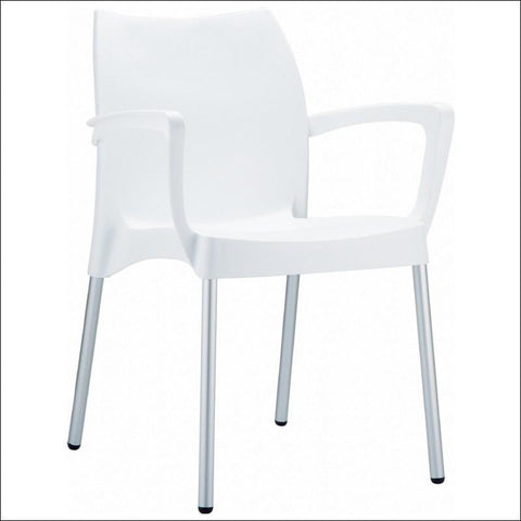 Compamia Dolce Resin Outdoor Armchair White ISP047-WHI - RestaurantFurniturePlus + Chairs, Tables and Outdoor - 1