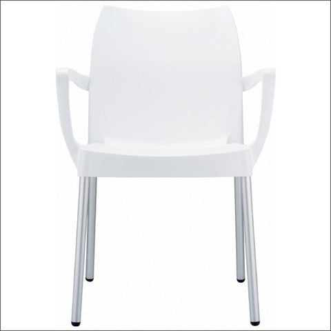Compamia Dolce Resin Outdoor Armchair White ISP047-WHI - RestaurantFurniturePlus + Chairs, Tables and Outdoor - 3