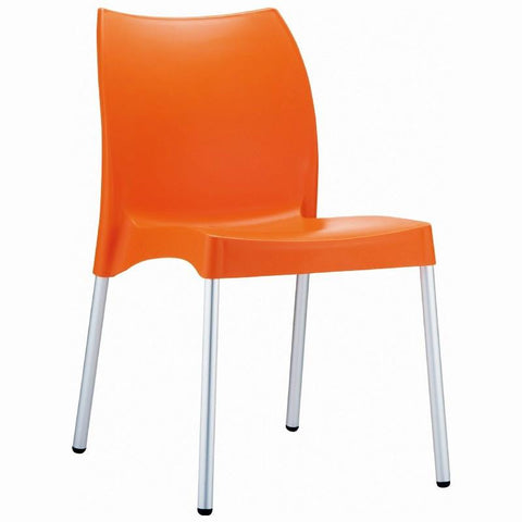 Compamia Vita Resin Outdoor Dining Chair Orange ISP049-ORA - RestaurantFurniturePlus + Chairs, Tables and Outdoor - 1