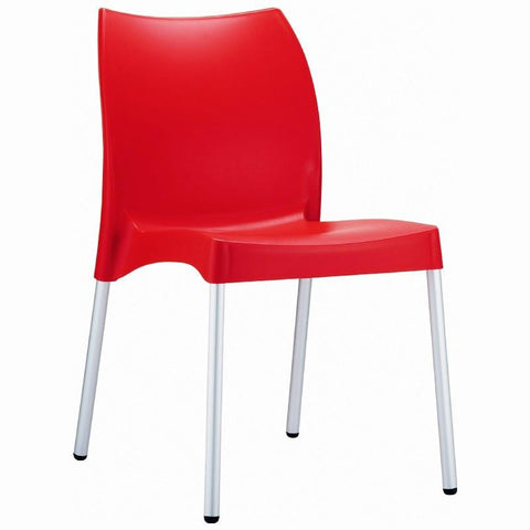 Compamia Vita Resin Outdoor Dining Chair Red ISP049-RED - RestaurantFurniturePlus + Chairs, Tables and Outdoor - 1
