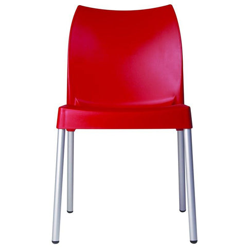 Compamia Vita Resin Outdoor Dining Chair Red ISP049-RED - RestaurantFurniturePlus + Chairs, Tables and Outdoor - 2