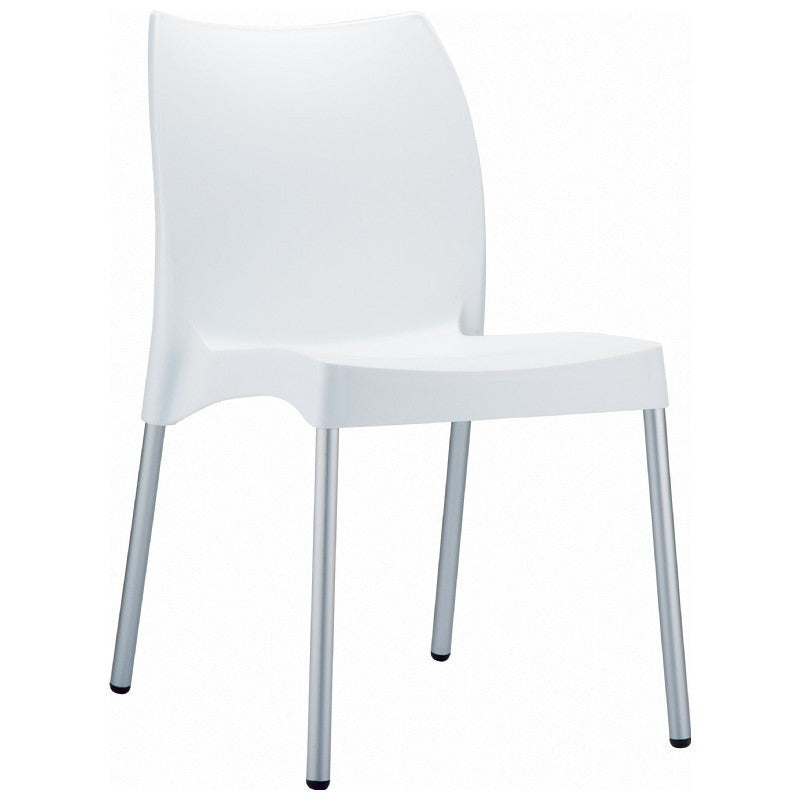 Compamia Vita Resin Outdoor Dining Chair White ISP049-WHI - YourBarStoolStore + Chairs, Tables and Outdoor