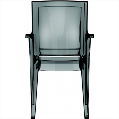 Compamia Arthur Polycarbonate Modern Dining Chair Transparent Black ISP053-TBLA - YourBarStoolStore + Chairs, Tables and Outdoor  - 2