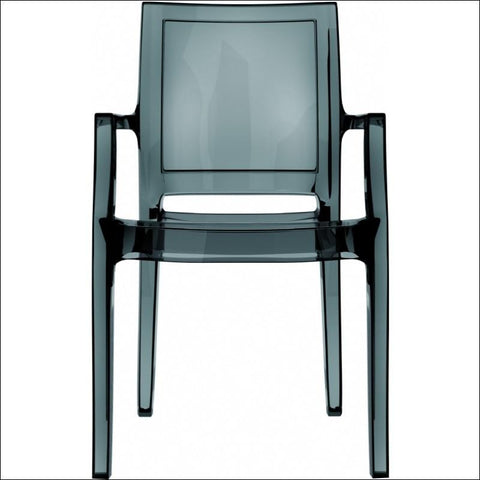 Compamia Arthur Polycarbonate Modern Dining Chair Transparent Black ISP053-TBLA - YourBarStoolStore + Chairs, Tables and Outdoor  - 3
