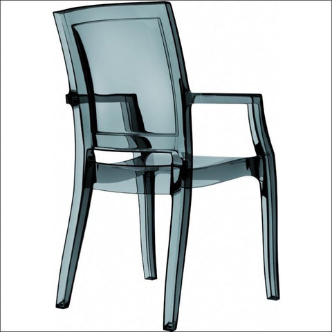Compamia Arthur Polycarbonate Modern Dining Chair Transparent Black ISP053-TBLA - YourBarStoolStore + Chairs, Tables and Outdoor  - 1