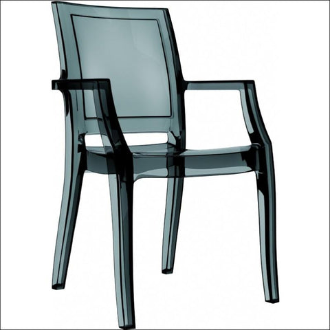 Compamia Arthur Polycarbonate Modern Dining Chair Transparent Black ISP053-TBLA - YourBarStoolStore + Chairs, Tables and Outdoor  - 4