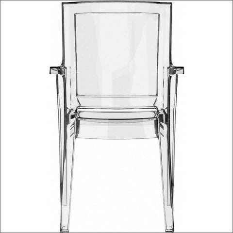 Compamia Arthur Polycarbonate Modern Dining Chair Transparent Clear ISP053-TCL - YourBarStoolStore + Chairs, Tables and Outdoor  - 2