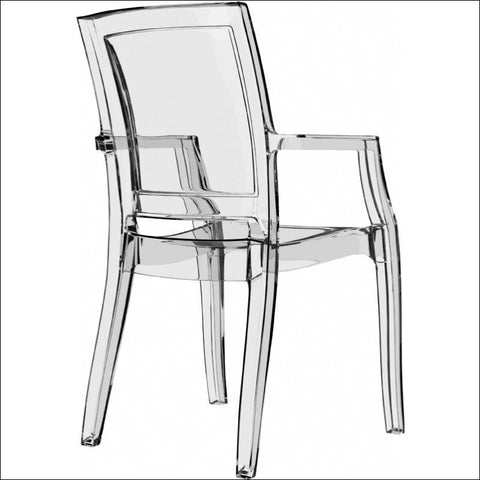 Compamia Arthur Polycarbonate Modern Dining Chair Transparent Clear ISP053-TCL - YourBarStoolStore + Chairs, Tables and Outdoor  - 1