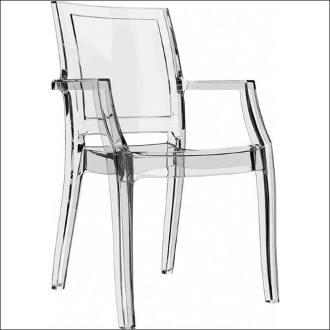 Compamia Arthur Polycarbonate Modern Dining Chair Transparent Clear ISP053-TCL - YourBarStoolStore + Chairs, Tables and Outdoor  - 4