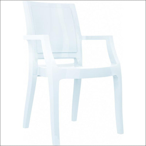 Compamia Arthur Polycarbonate Modern Dining Chair Glossy White ISP053-GWHI - YourBarStoolStore + Chairs, Tables and Outdoor  - 1