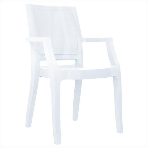 Compamia Arthur Polycarbonate Modern Dining Chair Glossy White ISP053-GWHI - YourBarStoolStore + Chairs, Tables and Outdoor  - 2