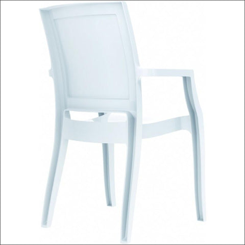 Compamia Arthur Polycarbonate Modern Dining Chair Glossy White ISP053-GWHI - YourBarStoolStore + Chairs, Tables and Outdoor  - 3