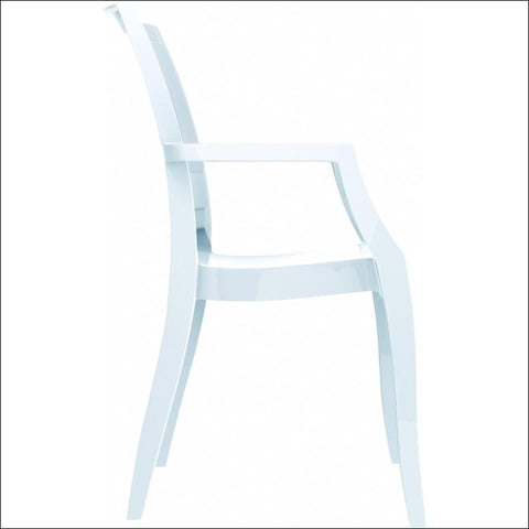 Compamia Arthur Polycarbonate Modern Dining Chair Glossy White ISP053-GWHI - YourBarStoolStore + Chairs, Tables and Outdoor  - 4