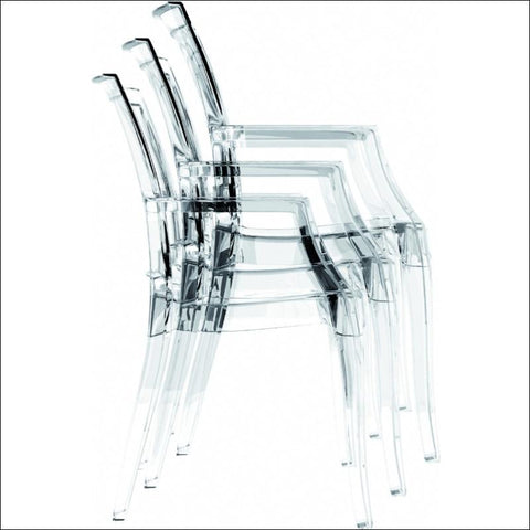 Compamia Arthur Polycarbonate Modern Dining Chair Transparent Clear ISP053-TCL - YourBarStoolStore + Chairs, Tables and Outdoor  - 6