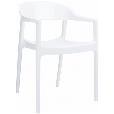 Compamia Carmen Modern Dining Chair White Seat Glossy White Back ISP059-WHI-GWI - RestaurantFurniturePlus + Chairs, Tables and Outdoor - 1