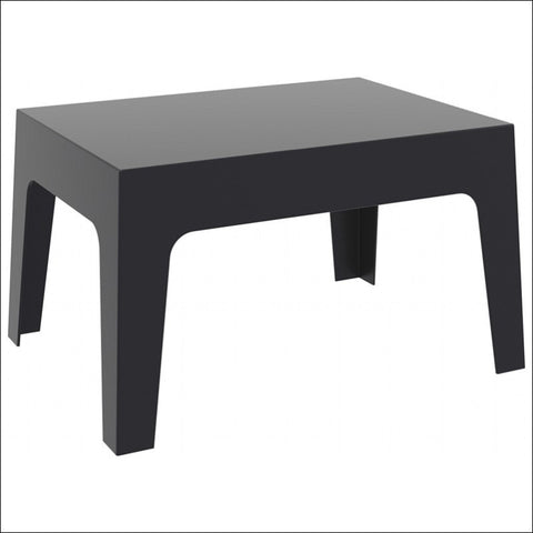 Compamia Box Resin Outdoor Center Table Black ISP064-BLA - YourBarStoolStore + Chairs, Tables and Outdoor  - 2