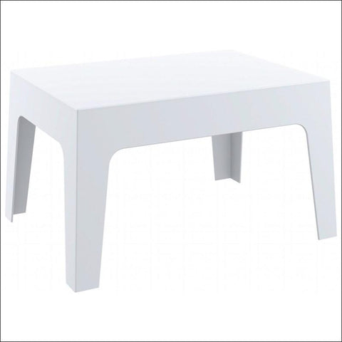 Compamia Box Resin Outdoor Center Table White ISP064-WHI - RestaurantFurniturePlus + Chairs, Tables and Outdoor - 1