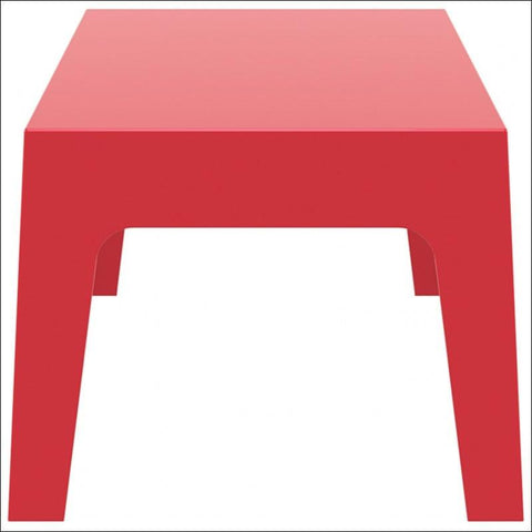 Compamia Box Resin Outdoor Center Table Red ISP064-RED - RestaurantFurniturePlus + Chairs, Tables and Outdoor - 4
