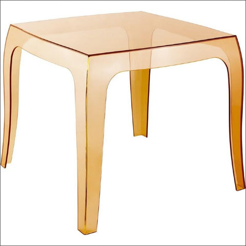 Compamia Queen Polycarbonate Side Table Transparent Amber ISP065-TAMB - RestaurantFurniturePlus + Chairs, Tables and Outdoor - 3