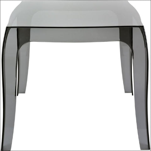 Compamia Queen Polycarbonate Side Table Transparent Black ISP065-TBLA - RestaurantFurniturePlus + Chairs, Tables and Outdoor - 1