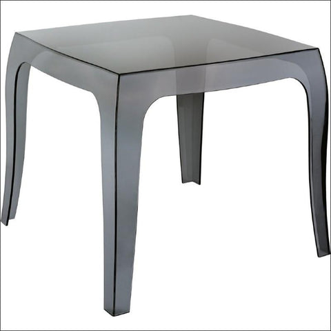 Compamia Queen Polycarbonate Side Table Transparent Black ISP065-TBLA - RestaurantFurniturePlus + Chairs, Tables and Outdoor - 2