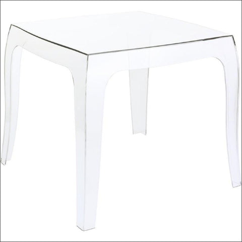 Compamia Queen Polycarbonate Side Table Transparent Clear ISP065-TCL - RestaurantFurniturePlus + Chairs, Tables and Outdoor - 2