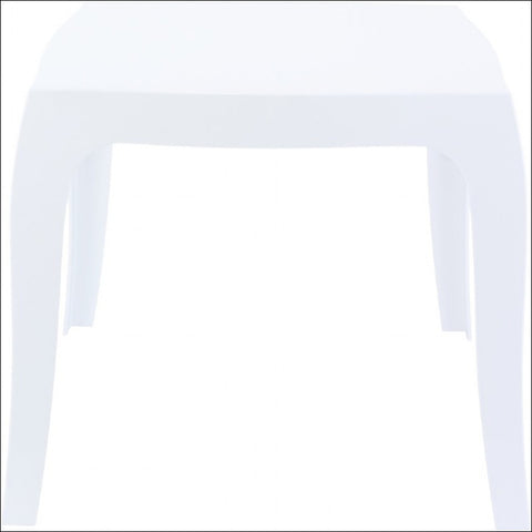 Compamia Queen Polycarbonate Side Table Glossy White ISP065-GWHI - YourBarStoolStore + Chairs, Tables and Outdoor  - 1