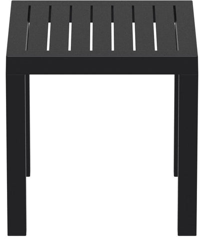 Compamia Ocean Square Resin Side Table Black ISP066-BLA - YourBarStoolStore + Chairs, Tables and Outdoor  - 2