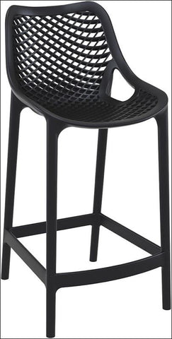 Compamia Air Counter Stool Black ISP067-BLA - RestaurantFurniturePlus + Chairs, Tables and Outdoor - 1