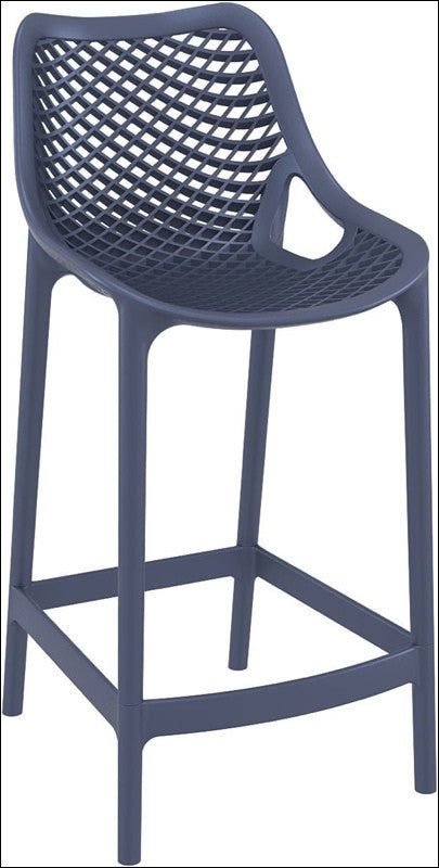 Compamia Air Counter Stool Dark Gray ISP067-DGR - YourBarStoolStore + Chairs, Tables and Outdoor  - 1