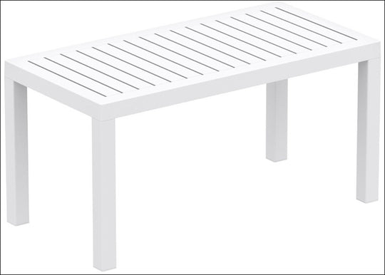 Compamia Ocean Rectangle Cofee Table White ISP069-WHI - YourBarStoolStore + Chairs, Tables and Outdoor  - 1