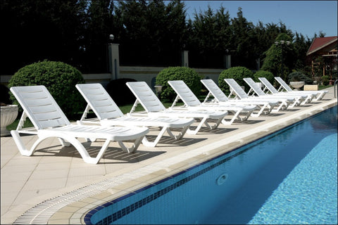 Compamia Aqua Pool Chaise Lounge White ISP076-WHI - RestaurantFurniturePlus + Chairs, Tables and Outdoor  - 3