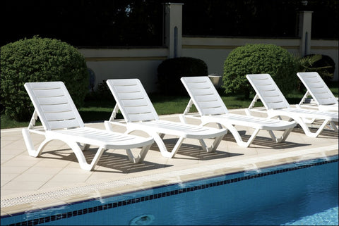 Compamia Aqua Pool Chaise Lounge White ISP076-WHI - RestaurantFurniturePlus + Chairs, Tables and Outdoor  - 4
