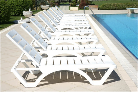Compamia Aqua Pool Chaise Lounge White ISP076-WHI - RestaurantFurniturePlus + Chairs, Tables and Outdoor  - 6