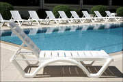 Compamia Aqua Pool Chaise Lounge White ISP076-WHI - RestaurantFurniturePlus + Chairs, Tables and Outdoor  - 7