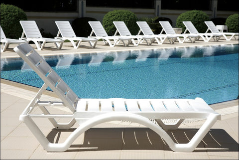 Compamia Aqua Pool Chaise Lounge White ISP076-WHI - RestaurantFurniturePlus + Chairs, Tables and Outdoor  - 13