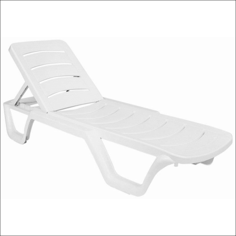 Compamia Sunlight Pool Chaise Lounge White ISP077-WHI - YourBarStoolStore + Chairs, Tables and Outdoor  - 1