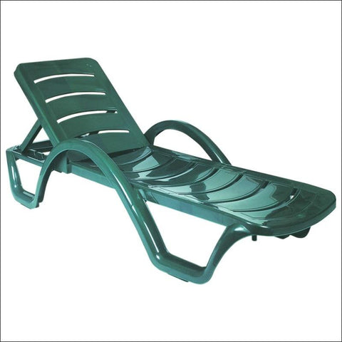 Compamia Sunrise Pool Chaise Lounge Green ISP078-GRE - RestaurantFurniturePlus + Chairs, Tables and Outdoor - 1