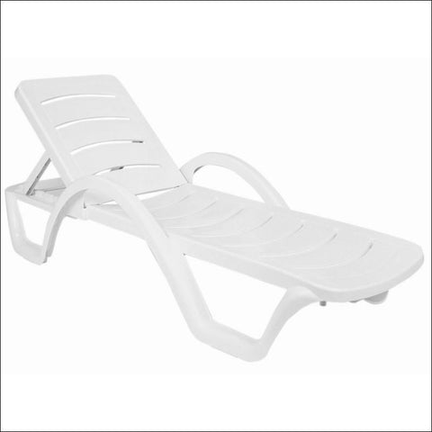 Compamia Sunrise Pool Chaise Lounge White ISP078-WHI - RestaurantFurniturePlus + Chairs, Tables and Outdoor - 1