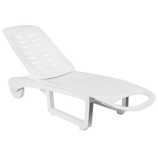 Compamia Sundance Pool Chaise Lounge White ISP080-WHI - RestaurantFurniturePlus + Chairs, Tables and Outdoor  - 1