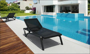 Compamia Pacific Sling Chaise Lounge Black Frame Black Sling ISP089-BLA-BLA - RestaurantFurniturePlus + Chairs, Tables and Outdoor - 23