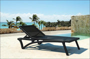 Compamia Pacific Sling Chaise Lounge Black Frame Black Sling ISP089-BLA-BLA - RestaurantFurniturePlus + Chairs, Tables and Outdoor - 25