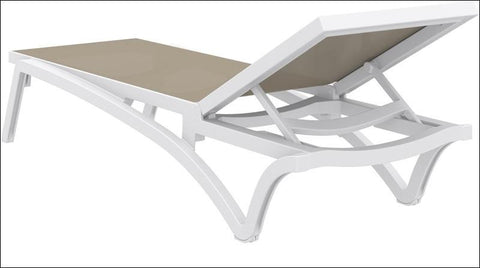 Compamia Pacific Sling Chaise Lounge White Frame Dove Gray Sling ISP089-WHI-DVR - RestaurantFurniturePlus + Chairs, Tables and Outdoor - 3