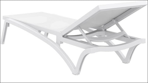Compamia Pacific Sling Chaise Lounge White Frame White Sling ISP089-WHI-WHI - RestaurantFurniturePlus + Chairs, Tables and Outdoor - 4