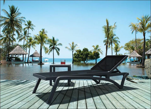 Compamia Pacific Sling Chaise Lounge Black Frame Black Sling ISP089-BLA-BLA - RestaurantFurniturePlus + Chairs, Tables and Outdoor - 9