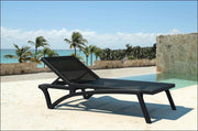 Compamia Pacific Sling Chaise Lounge Black Frame Black Sling ISP089-BLA-BLA - RestaurantFurniturePlus + Chairs, Tables and Outdoor - 1