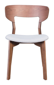 Russell Dining Chair - Walnut & Gray