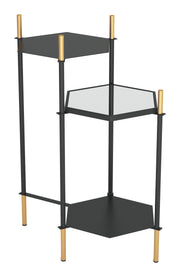 William Side Table Gold & Black
